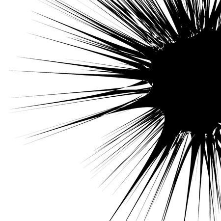 jagged: Concentric circular pattern. Random burst, radiating, radial element with distortion