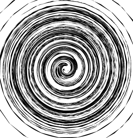 whorl: Abstract spiral element in irregular, random fashion. Geometric hypnotic vortex.
