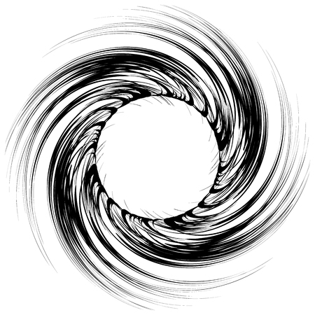 Geometric circular pattern. Abstract monochrome illustration series Ilustrace
