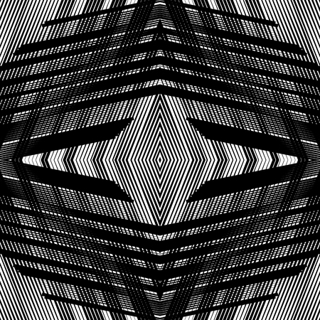Symmetrical repeatable mesh, grid background with mirrored geometry