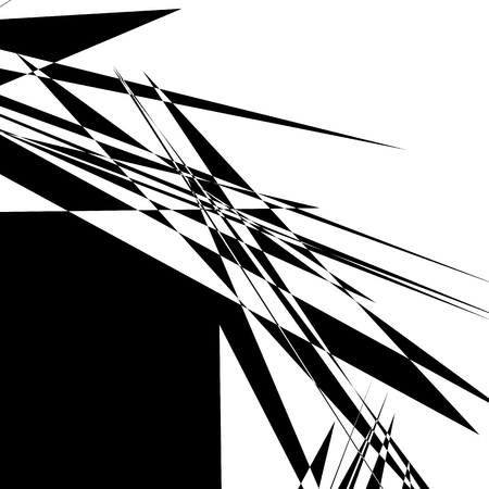 rupture: Rough, edgy geometric texture. Abstract black and white illustration Illustration