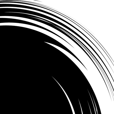 hypnotism: Abstract illustration with spiral, swirl element in clipping mask. Irregular concentric lines forming a vortex