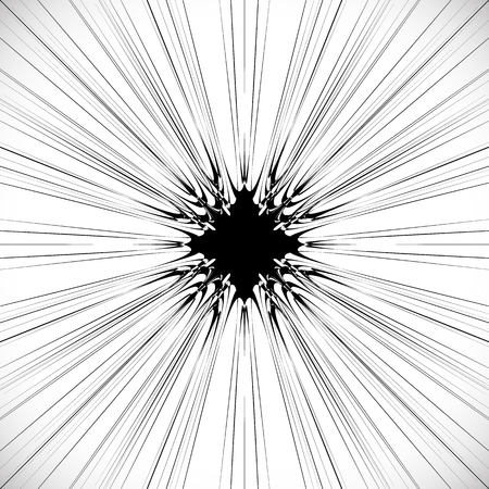bloat: Abstract burst element in clipping mask. Radial, radiating lines. Geometric rays, beams circular abstract pattern. Explosion, starburst, sunburst effect.