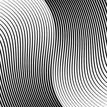 Abstracte lineaire zwart-witte textuur. Mesh, array van lijnen geometrische patroon