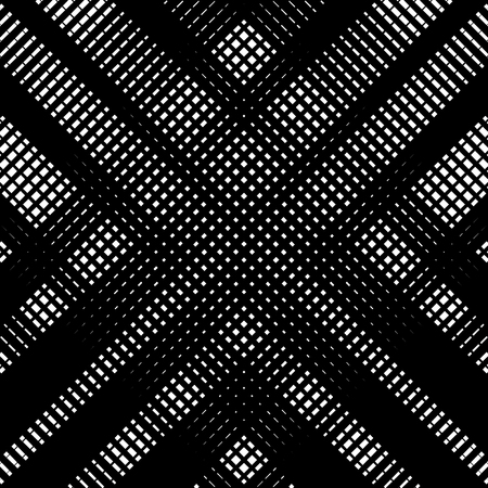 Abstract linear black and white texture. Mesh, array of lines geometric pattern 向量圖像