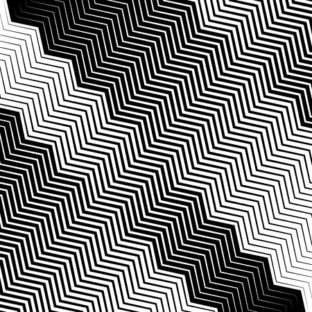 eyestrain: Wavy, undulating lines geometric monochrome pattern. Slanted lines with waving distortion
