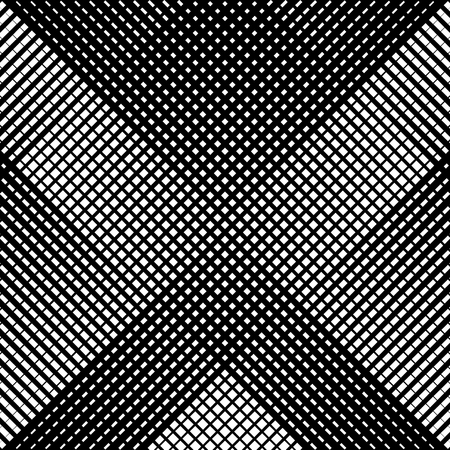 Abstract linear black and white texture. Mesh, array of lines geometric pattern 矢量图像