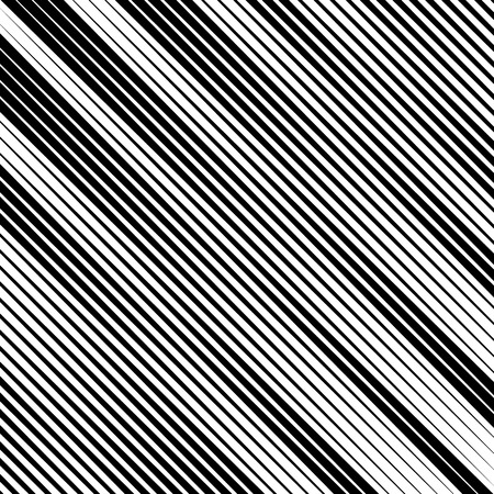 Abstract linear black and white texture. Mesh, array of lines geometric pattern Illustration