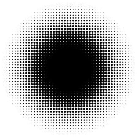 diffuse: Halftone element, circular halftone pattern. Specks, halftone circle gradient Illustration