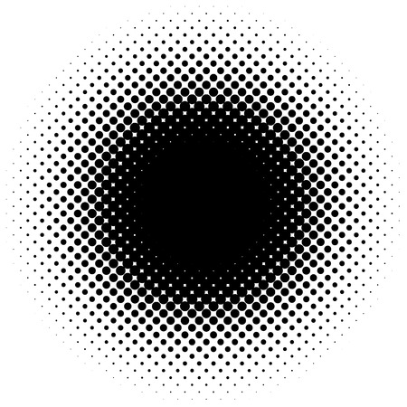 ハーフトーンの要素、円形のハーフトーンのパターン。斑点、ハーフトーン サークル勾配