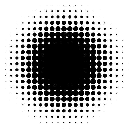 Elemento de semitono, patrón circular de semitonos. Espigas, gradiente de semitonos Ilustración de vector