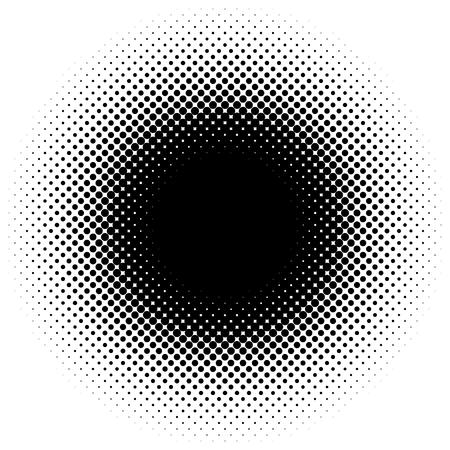 Halftone element, circular halftone pattern. Specks, halftone circle gradient Ilustração