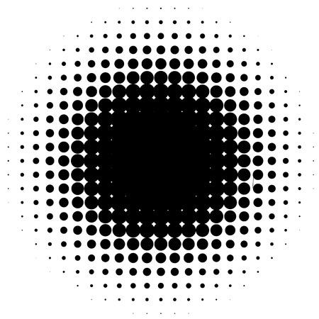 Halftone element, circular halftone pattern. Specks, halftone circle gradient Illustration