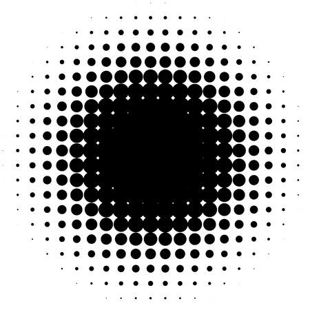 Halftone element, circular halftone pattern. Specks, halftone circle gradient
