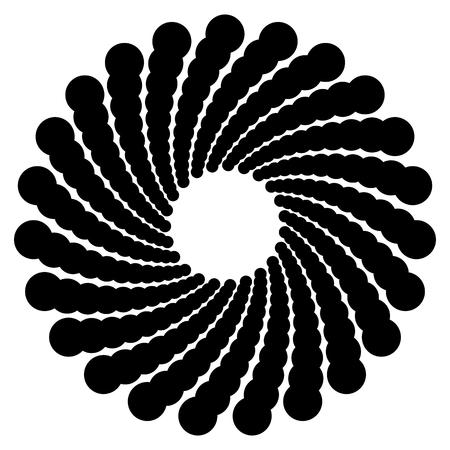 arte optico: Motivo geométrico circular