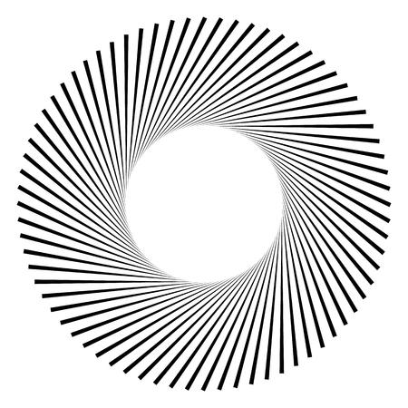 Motivo geométrico circular. Resumen en escala de grises op-art elemento
