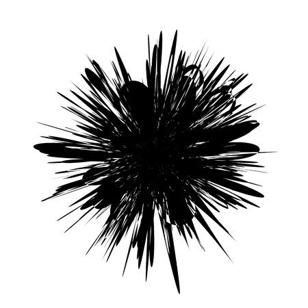 Cirkel geometrisch motief. Abstract grijswaarden op-art element Stock Illustratie