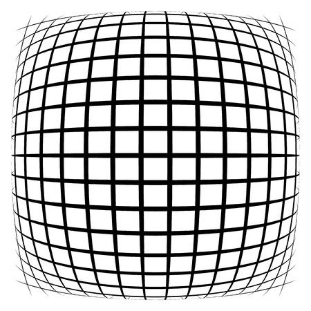 Grid, mesh, lattice with distortion, warp effect. Abstract element illustration.