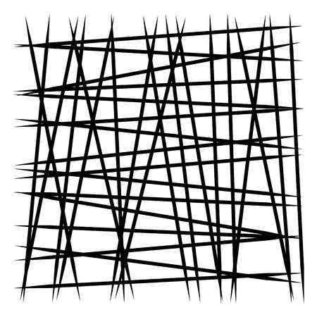 Random lines stripes. Chaotic lines element isolated on white