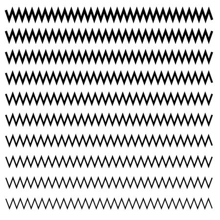 Wavy, criss-cross, zig-zag lines. Set of different levels Vector illustration. Illustration