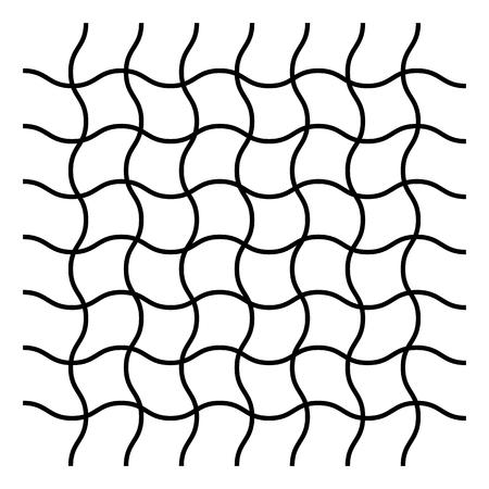 Wavy zig zag, criss cross grid pattern