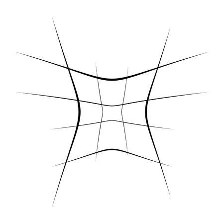 Abstract element with random overlapping lines. abstract distored lines