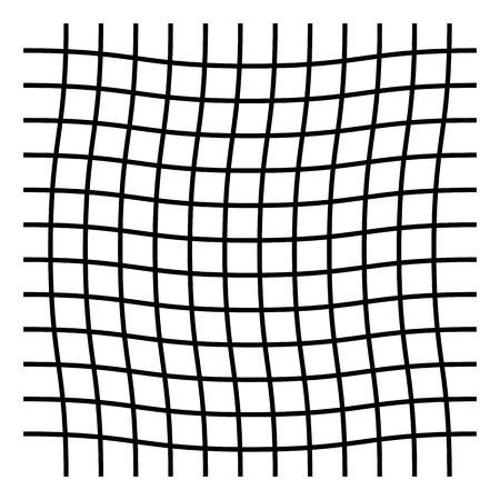 Wavy, zigzag, crisscross grid pattern illustration.