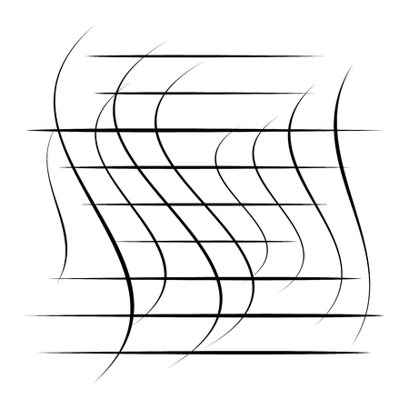 Abstract element with random overlapping lines. Abstract distorted lines. Illustration