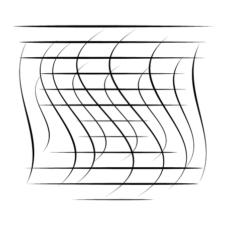 Abstract element with random overlapping lines. abstract distorted lines.