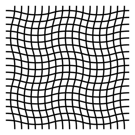 Wavy, zig zag, criss cross grid pattern Vector illustration. Reklamní fotografie - 96773494