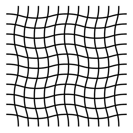Wavy, zigzag, crisscross grid pattern illustration. Reklamní fotografie - 96759250