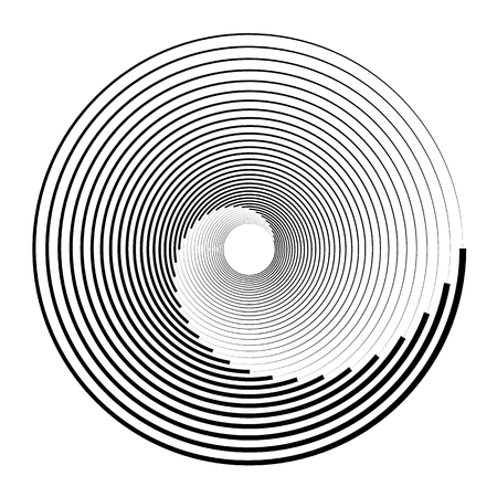 Concentric circles, concentric rings. Abstract radial graphics. Vector illustration. Stock Vector - 96773583