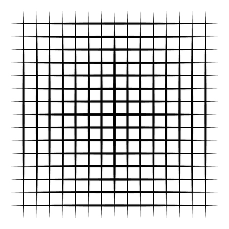 Grid, mesh, intersecting lines isolated on white Illustration