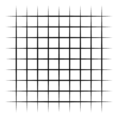 Grid, mesh, intersecting lines isolated on white. Vector illustration.