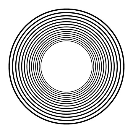 Concentric circles, concentric rings. Abstract radial graphics. Vector illustration. Stock Vector - 96776913