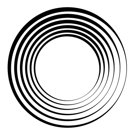 Concentric circles, concentric rings. Abstract radial graphics. Vector illustration. Stock Vector - 96779509