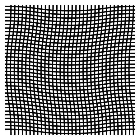 Wavy, zig zag, criss cross grid pattern
