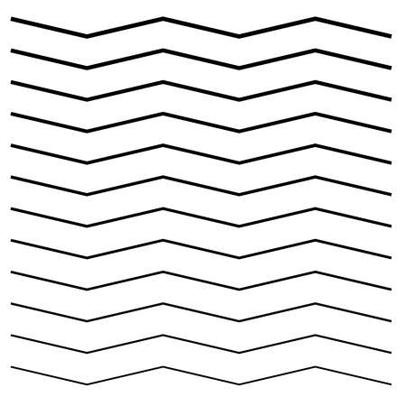 Wavy, crisscross, zigzag lines. Set of different levels Vector illustration.