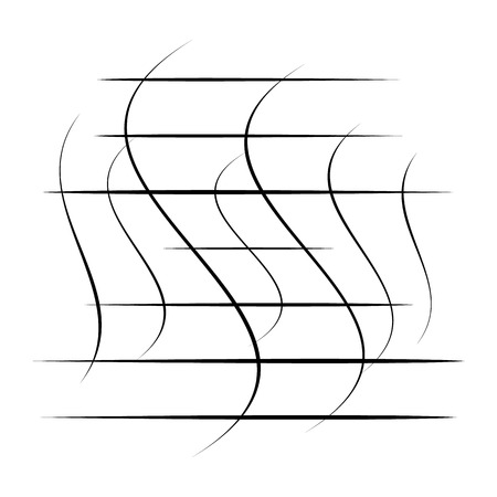 Abstract element with random overlapping lines. abstract distorted lines Vector illustration.