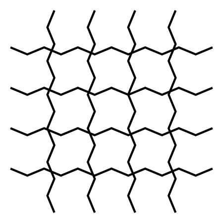 Wavy, zigzag, crisscross grid pattern illustration. Reklamní fotografie - 96759206