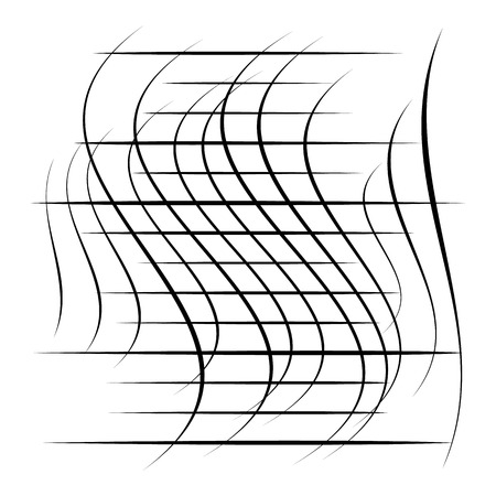 Abstract element with random overlapping lines. abstract distorted lines