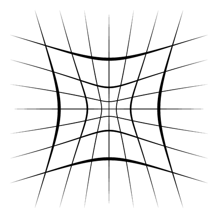 Grid, mesh, lattice with distortion, warp effect. Abstract element Vector illustration. Reklamní fotografie - 96803510