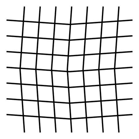 Wavy, zigzag, crisscross grid pattern Vector illustration. Illustration