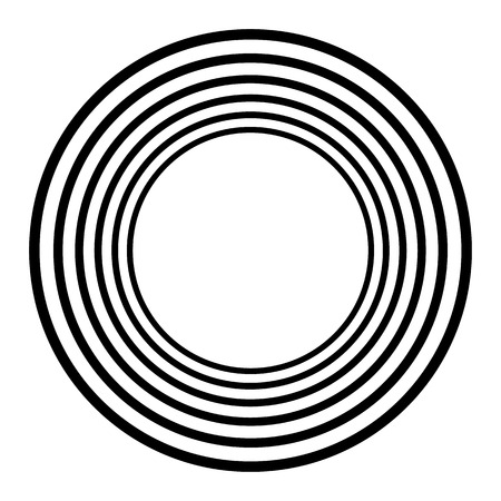 Concentric circles, concentric rings. Abstract radial graphics. Vector illustration. Stock Vector - 96780068