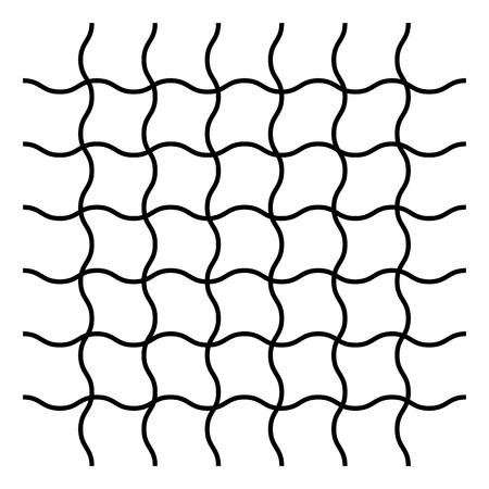 Wavy, zig zag, criss cross grid pattern Vector illustration.