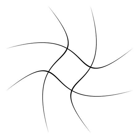 Rejilla, malla, celosía con distorsión, efecto de urdimbre. Elemento abstracto ilustración vectorial.