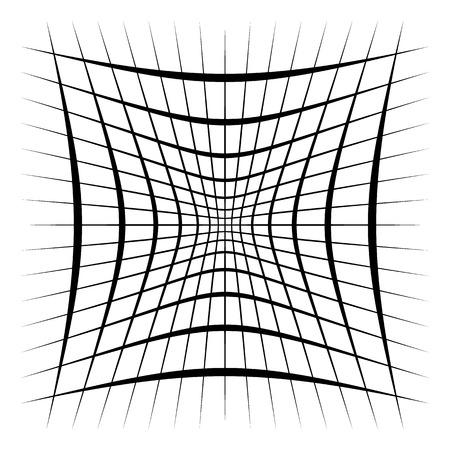 Grid, mesh, lattice with distortion, warp effect. Abstract element Vector illustration. Reklamní fotografie - 96799222