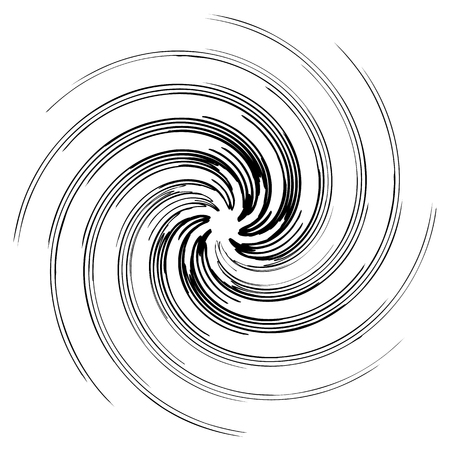 Geometric radial element. Abstract concentric, radial geometric motif Vector illustration.