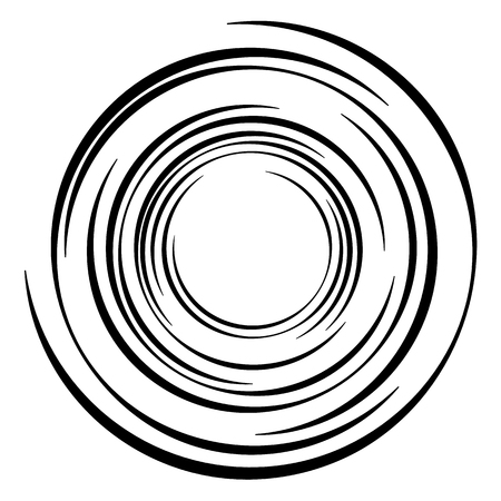 Geometric radial element. Abstract concentric, radial geometric motif