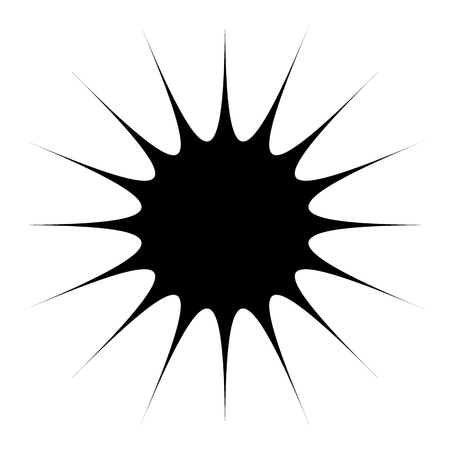 Concentric radial element. Radiating abstract geometric element